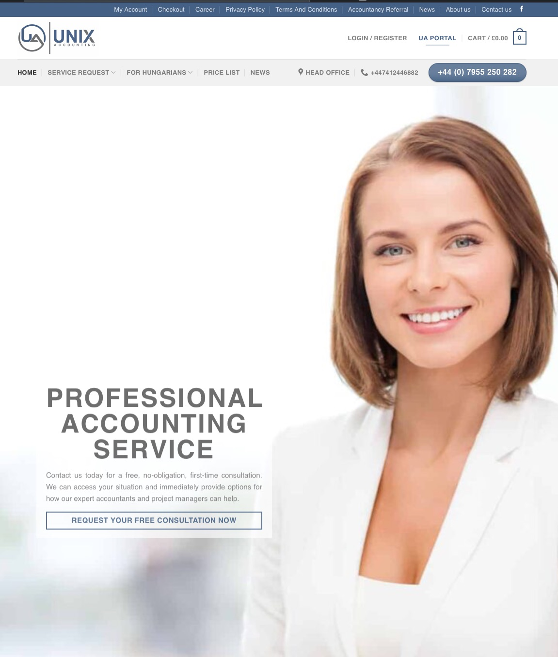 UnixAccounting Bookeeping website design in London